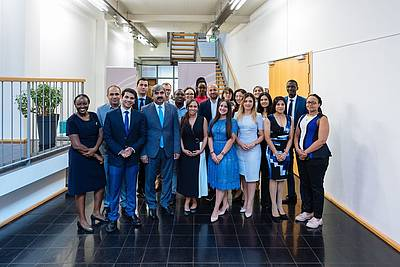 The participants of the English edition of the Nuremberg Summer Academy for Young Professionals 2019