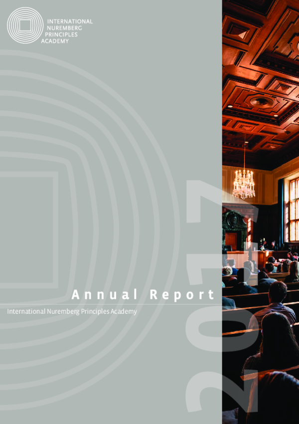 Nuremberg Academy Annual Report 2017
