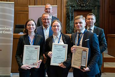 National University of Kyiv-Mohyla Academy, Second Place at the Nuremberg Moot Court 2018, with Klaus Rackwitz, Prof. Dr. Bertram Schmitt and Prof. Dr. Christoph Safferling
