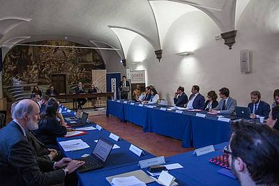 The conference took place in the Salone Poccetti in Istituto degli Innocenti in Florence.
