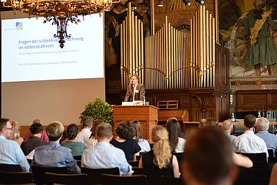 Prof. Florian Jeßberger (Universität Hamburg) opens the 14th Session of the Arbeitskreis Völkerstrafrecht - photo: private