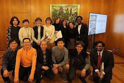 Members of the Korean delegation, of the Human Rights Office of the City of Nuremberg and of the Nuremberg Academy