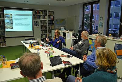Deputy Director Dr. Viviane Dittrich presenting at the  Nuremberg Human Rights Center